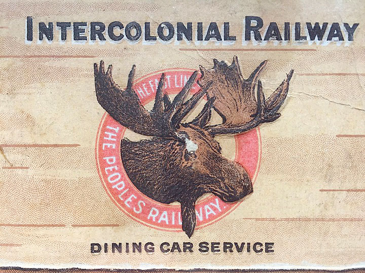 Intercolonial Railway Diner Menu