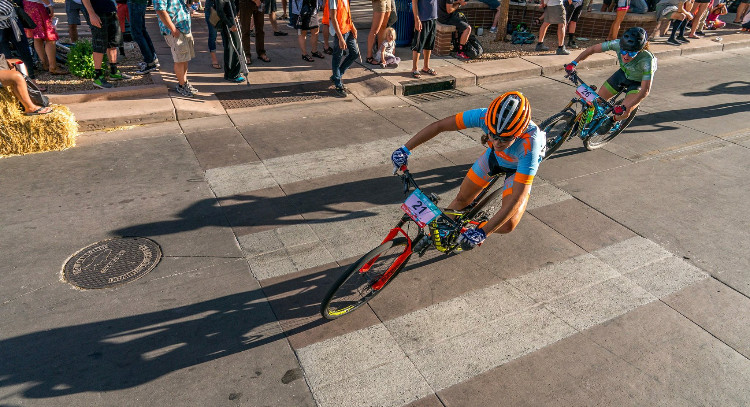 Grand Junction Crit racing! Photo: Kenny Wehn