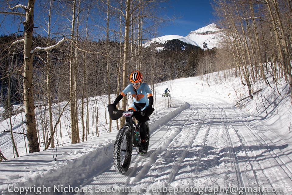Two weeks ago at the Lone Cone Fat Bike Challenge.