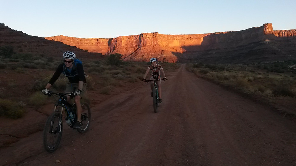 Early morning shot of Ben and I after the Shafer descent.