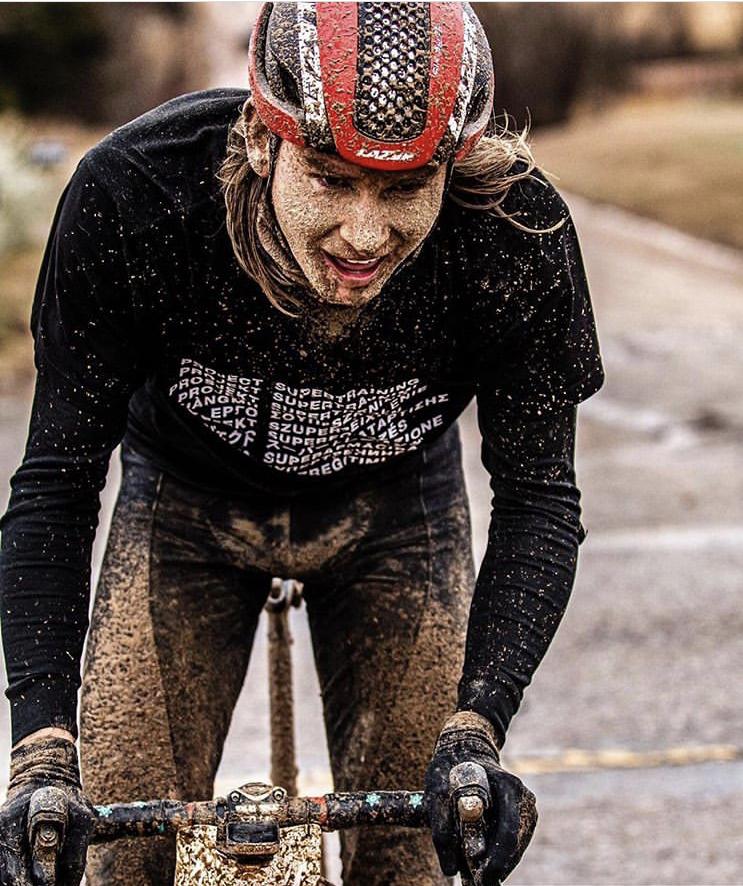 Grant enjoying the mud