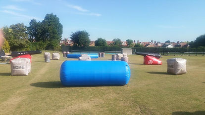 Inflatable game zone