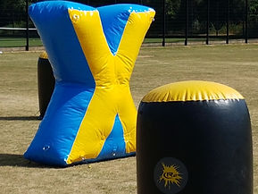X marks the centre of the game zone