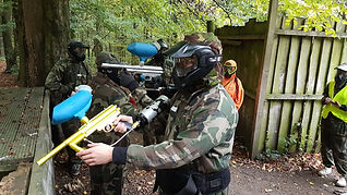 Ready to play paintball