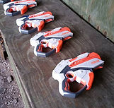 blasters ready for action