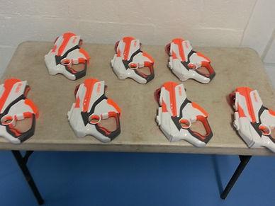 Nerf Blasters ready