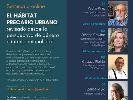 Comienza el seminario online: El Hábitat precario urbano
