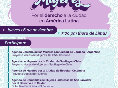 Encuentro Internacional de Agendas de Mujeres por el Derecho a la Ciudad