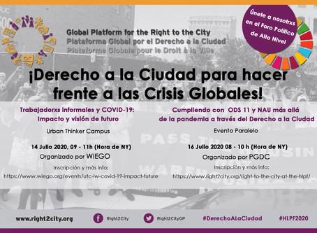 Cumpliendo con ODS 11 y NAU más allá de la pandemia a través del Derecho a la Ciudad