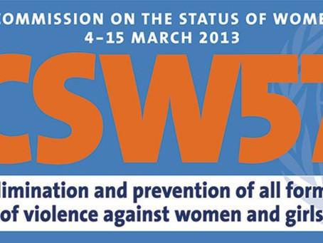 Participación de la Red Mujer y Hábitat en la 57° CSW New York.