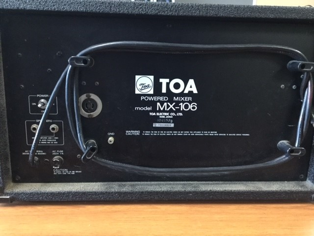 TOA powered mixer #2