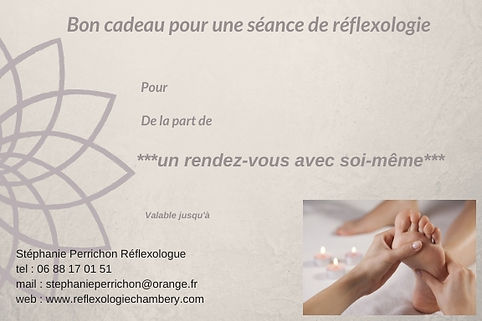 bon cadeau réflexologie à Chambéry
