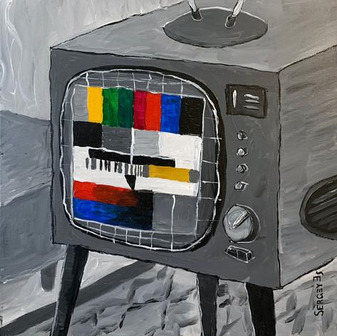 Чёрно-белый телевизор