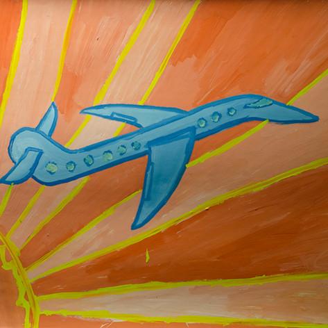 Солнце и самолёт