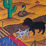 Слепая собака поводырь слепой собаки поводыря