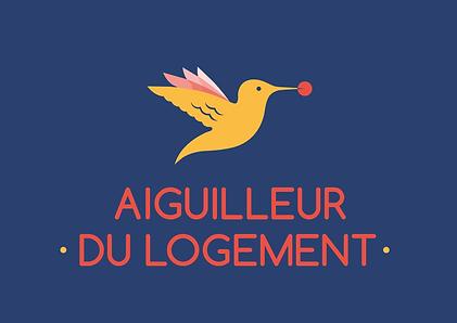 Logo aiguilleur du logement fond bleu.pn