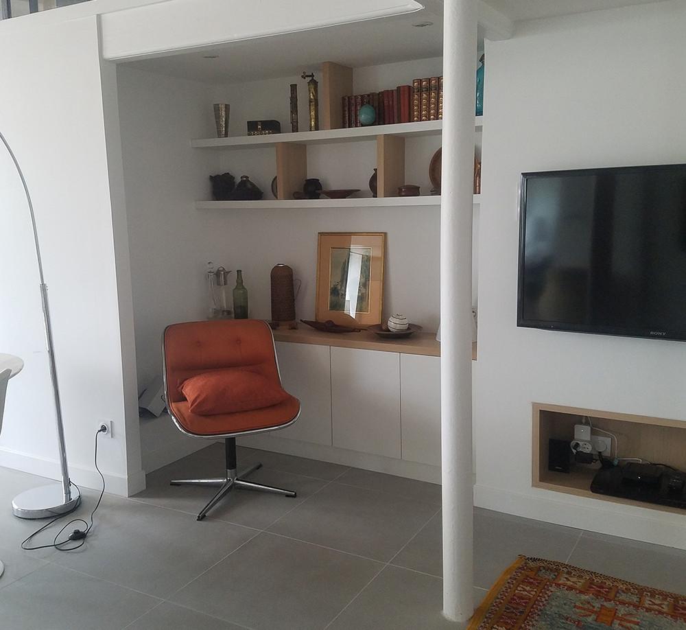 sejour canut amenagement tendance renovation appartement travaux-decoration lyon architecte intérieur studiolb lisa bronsztejn annonciade