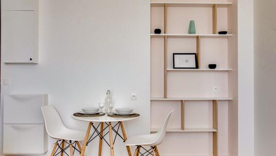 sejour niche amenagement tendance renovation appartement travaux-decoration lyon architecte intérieur studiolb lisa  bronsztejn sublimer l'espace