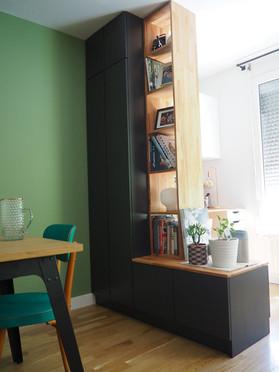 rangement sur mesure amenagement tendance renovation appartement travaux-decoration lyon architecte intérieur studiolb lisa bronsztejn or et argent