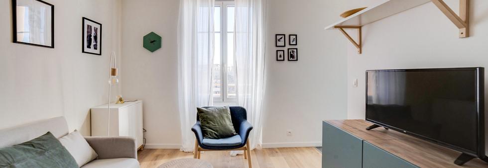 sejour amenagement tendance renovation appartement travaux-decoration lyon architecte intérieur studiolb lisa  bronsztejn sublimer l'espace