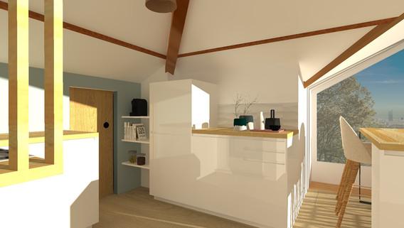 cuisine blanche amenagement tendance renovation appartement travaux-decoration villeurbanne meyzieu architecte intérieur studiolb lisa bronsztejn lumière