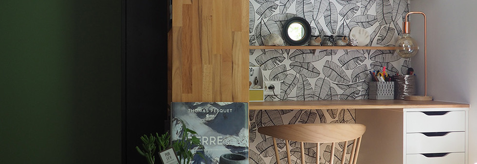 bureau amenagement tendance renovation appartement travaux-decoration lyon architecte intérieur studiolb lisa bronsztejn urban jungle marion lanoe