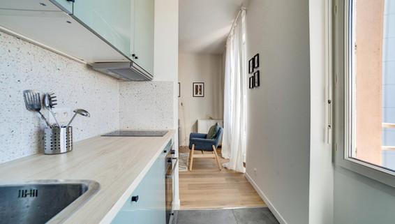cuisine terrazzo amenagement tendance renovation appartement travaux-decoration lyon architecte intérieur studiolb lisa  bronsztejn sublimer l'espace
