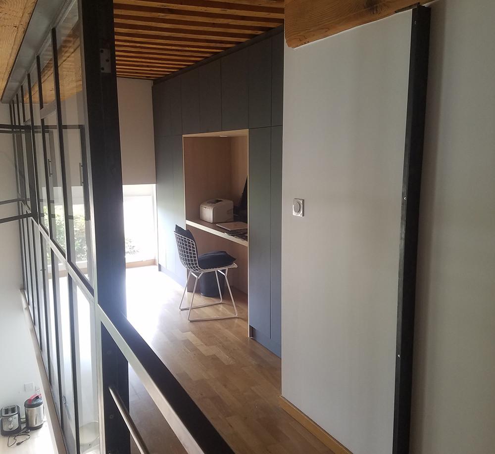 mezzanine canut pentes airbnb amenagement tendance renovation appartement travaux-decoration lyon architecte intérieur studiolb lisa bronsztejn rouville