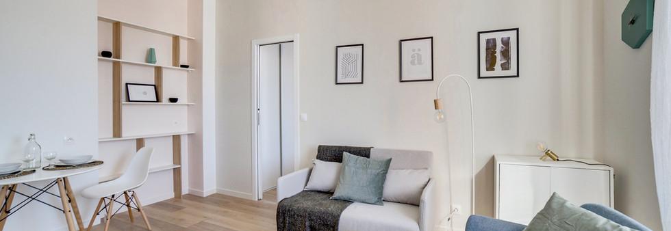 sejour sandinave amenagement tendance renovation appartement travaux-decoration lyon architecte intérieur studiolb lisa  bronsztejn sublimer l'espace