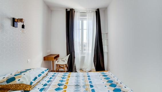 chambre amenagement tendance renovation appartement travaux-decoration lyon architecte intérieur studiolb lisa  bronsztejn sublimer l'espace