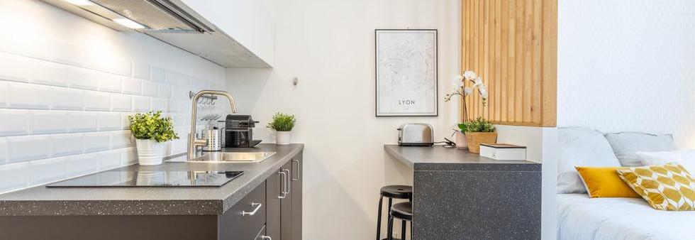 cuisine fonctionnelle amenagement tendance renovation appartement travaux-decoration lyon architecte intérieur studiolb lisa bronsztejn or et argent