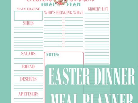 Easter Meal Planner Page