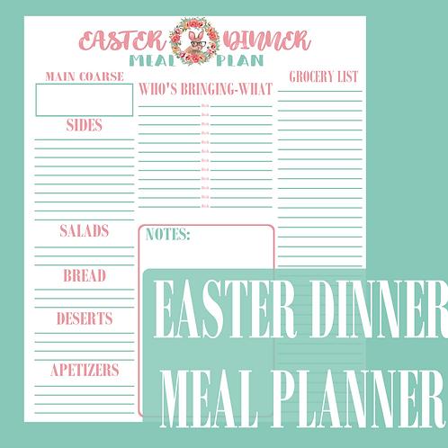 Easter Dinner Meal Plan PDF