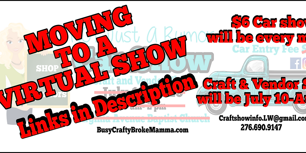NOT Just A Rumor Car Show & Craft and Vendor Show