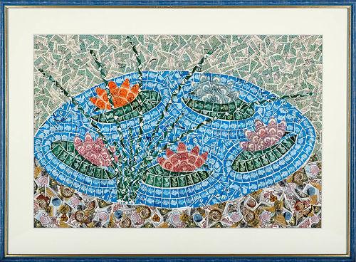 51_Tavirózsák kövekkel kagylókkal_Water