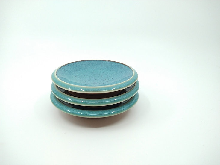Ocean Blue Stoneware Small Plates