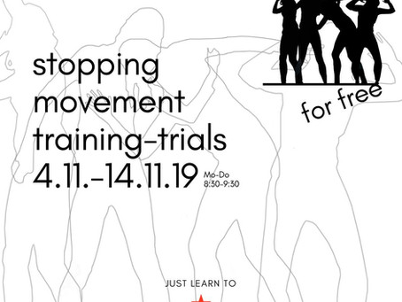Stopping Movement Training Trials 4.11.-14.11.19 / 8:30-9:30