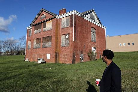 Chris Sanchez and the Edgar A. Long building