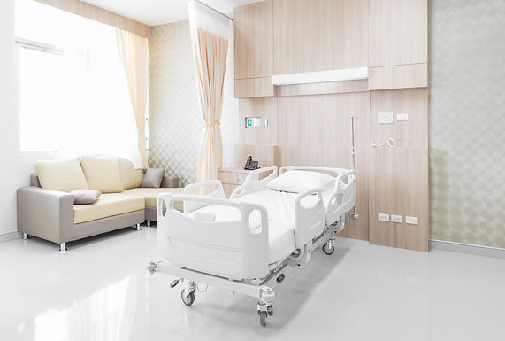 Hospital room with beds and comfortable