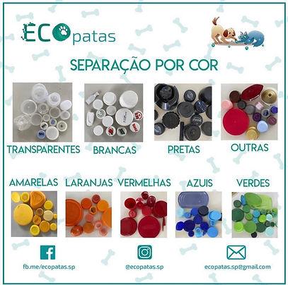 Mandar tampinhas plásticas separadas por cor ajuda ainda mais