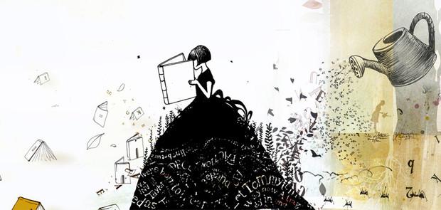 Serie de Ilustraciones que corresponden a un relato y aplicaron en animaciones, en el espacio interior de la feria y en afiches y banners.