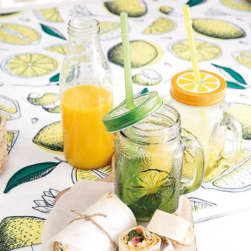 Drink glass lemon
