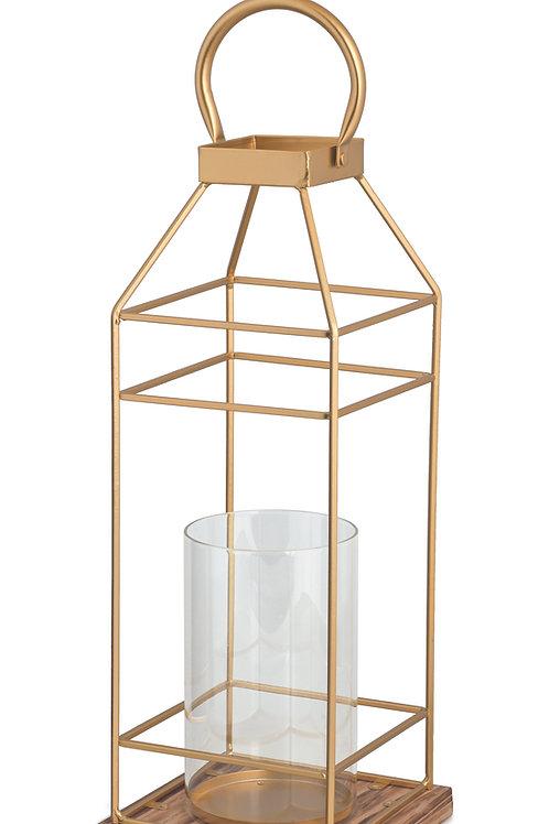 Lanterna oro e legno
