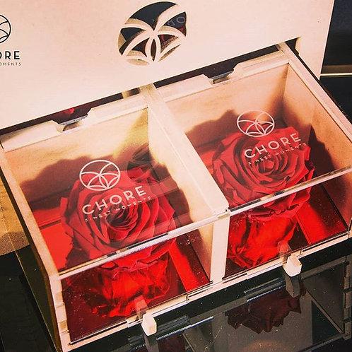 BOX FLOWER 4 ROSE