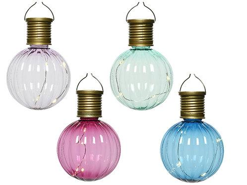 Lampadine colorate a luce solare