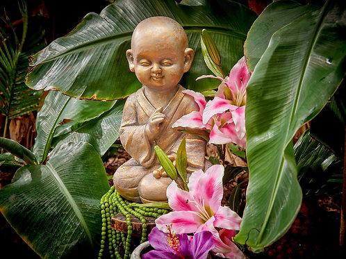 Statue buddha colore oro