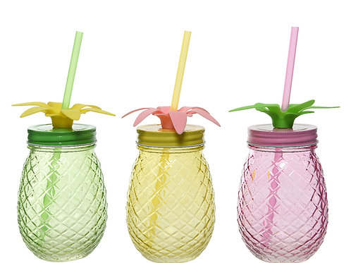 Drink glass ananas