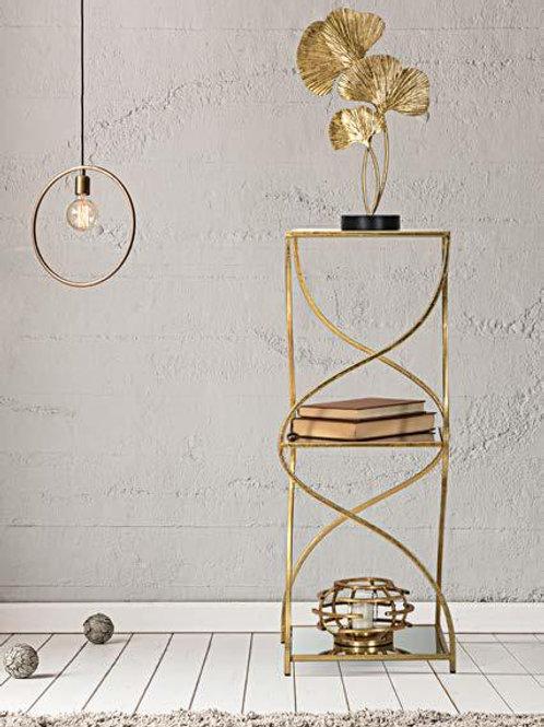 Tavolino oro con base specchio