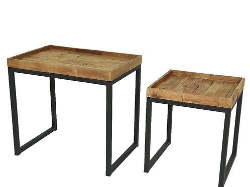 Set tavolino legno di acacia 100%