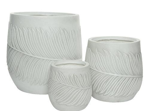 Tris vasi texture foglia